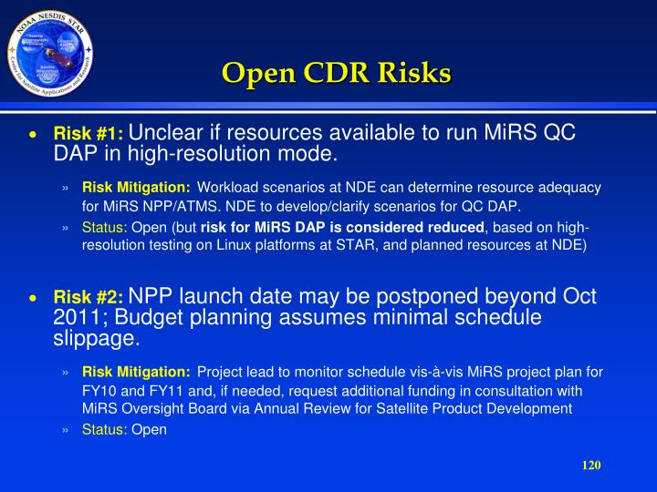Open CDR Risks
