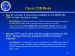 open cdr risks