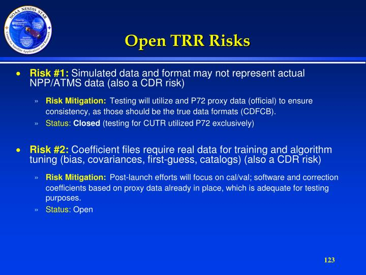 Open TRR Risks