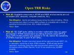 open trr risks1