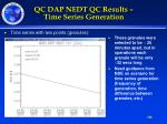 qc dap nedt qc results time series generation