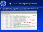 qc dap test sequence results1