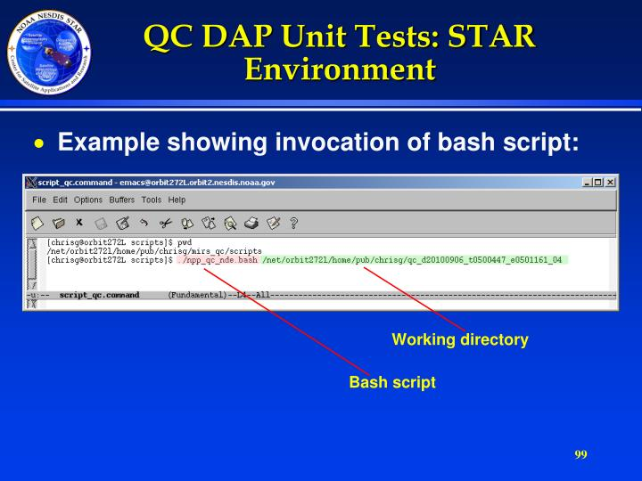 QC DAP Unit Tests: STAR Environment