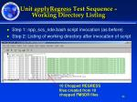 unit applyregress test sequence working directory listing