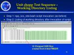 unit chopp test sequence working directory listing