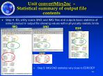 unit convertmirs2nc statistical summary of output file contents