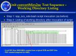 unit convertmirs2nc test sequence working directory listing
