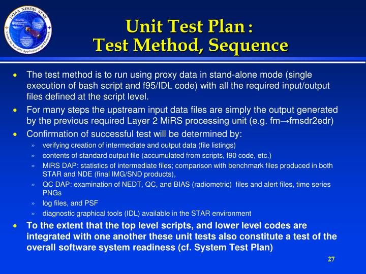 Unit Test Plan