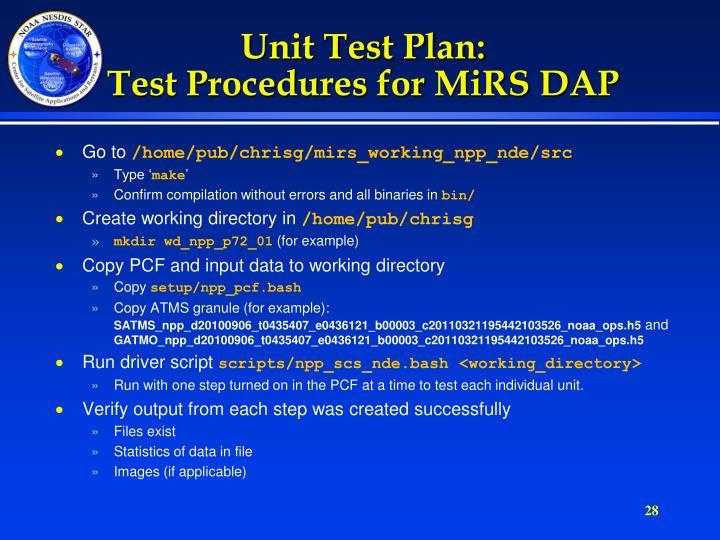 Unit Test Plan: