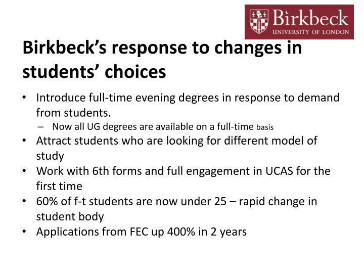 Birkbeck's