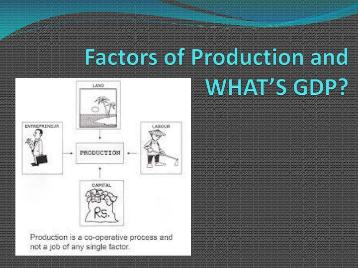 Factors of Production and WHAT'S GDP?