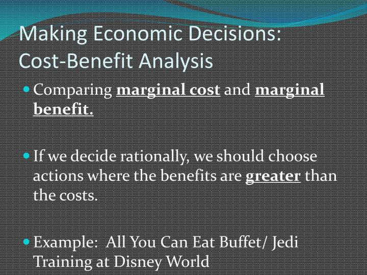 Making Economic Decisions:
