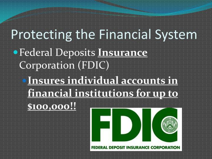 Protecting the Financial System