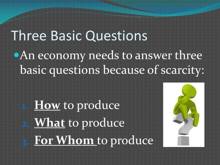 Three Basic Questions