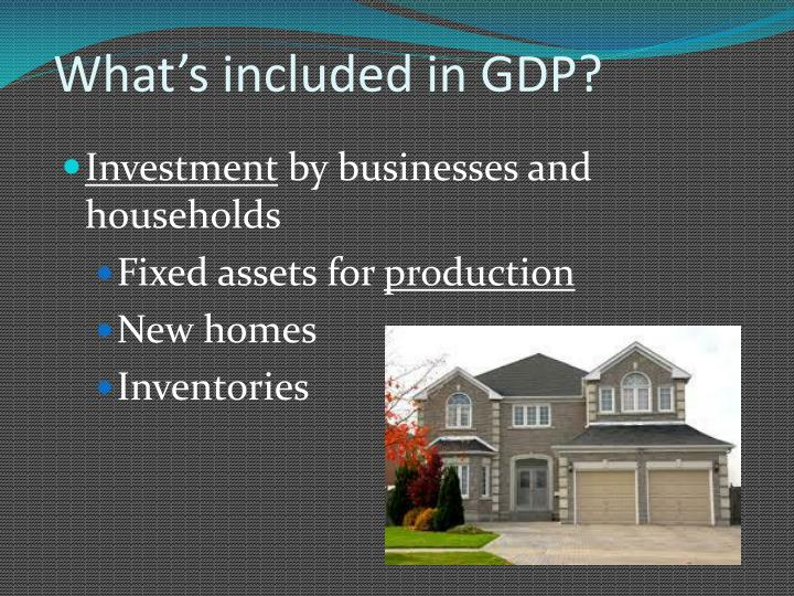 What's included in GDP?