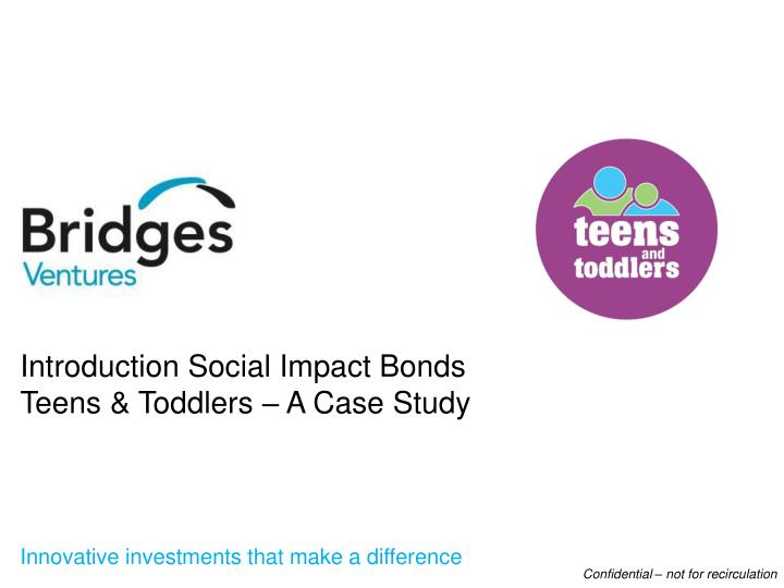 Introduction Social Impact Bonds