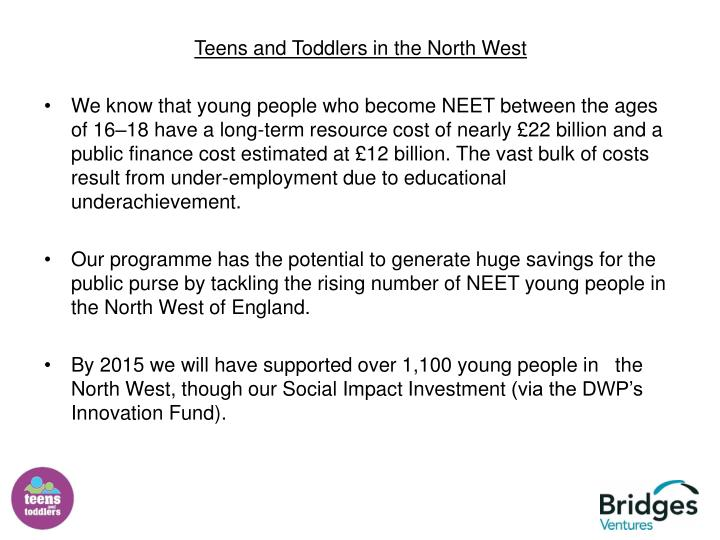 Teens and Toddlers in the North West