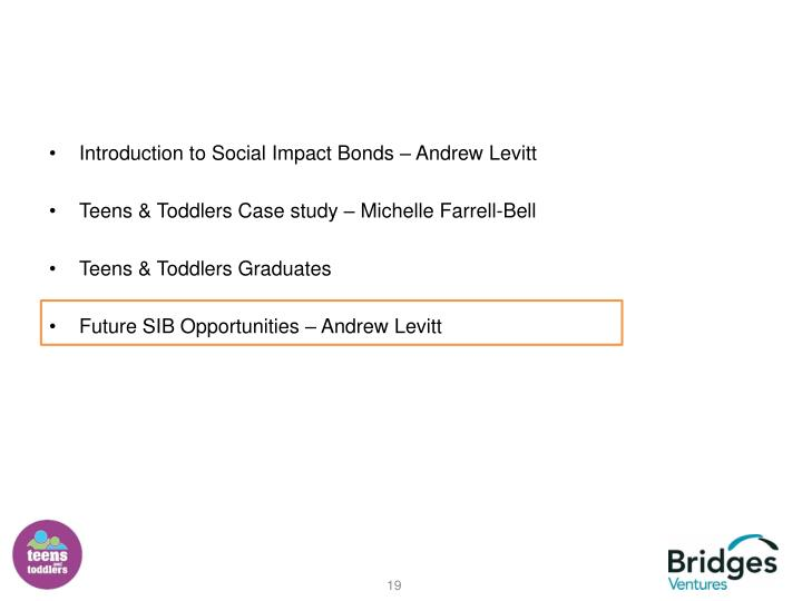 Introduction to Social Impact Bonds – Andrew Levitt
