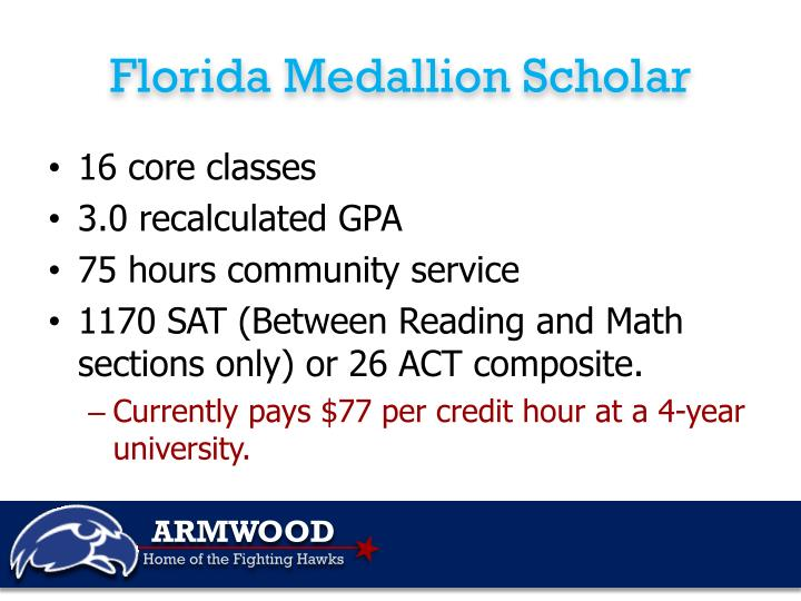 Florida Medallion Scholar