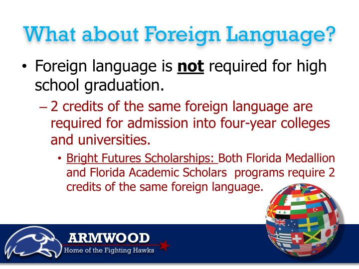 What about Foreign Language?