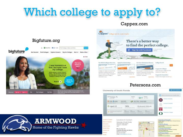 Which college to apply to?