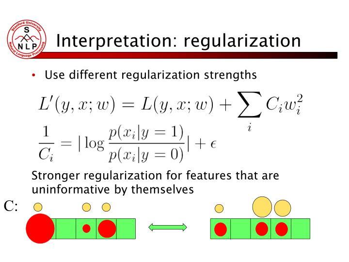Interpretation: regularization