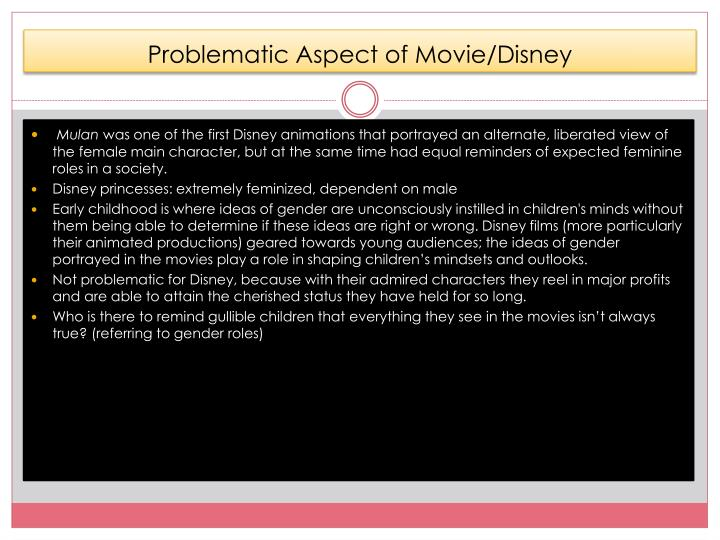Problematic Aspect of Movie/Disney