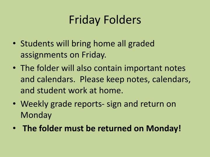Friday Folders