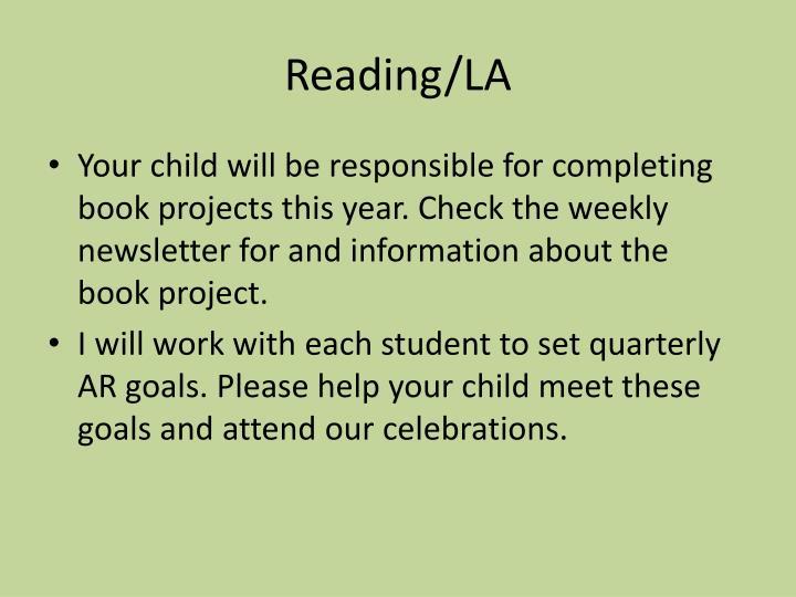 Reading/LA