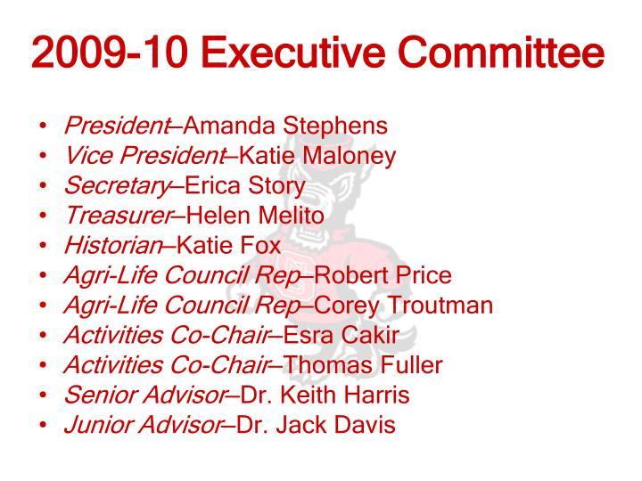 2009-10 Executive