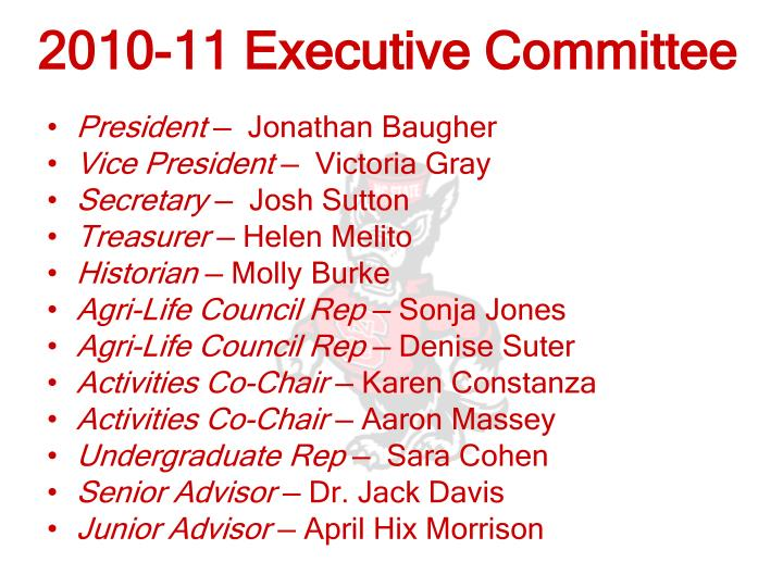 2010-11 Executive Committee