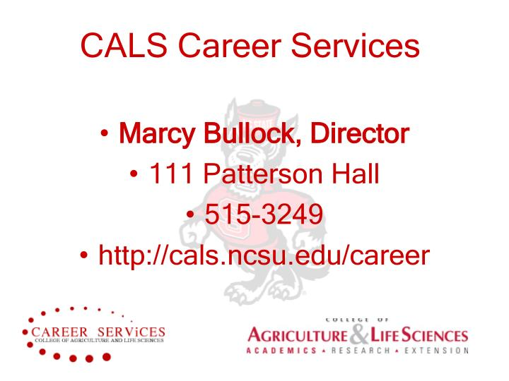 Cals career services
