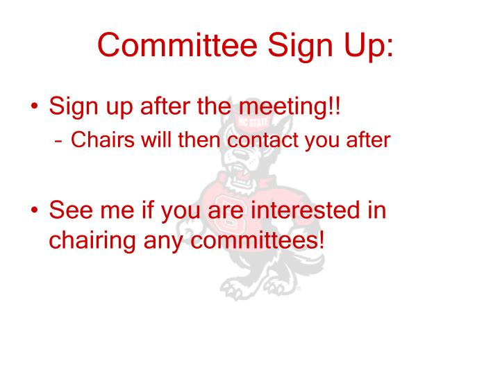 Committee Sign Up: