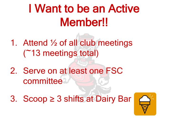 I Want to be an Active Member!!