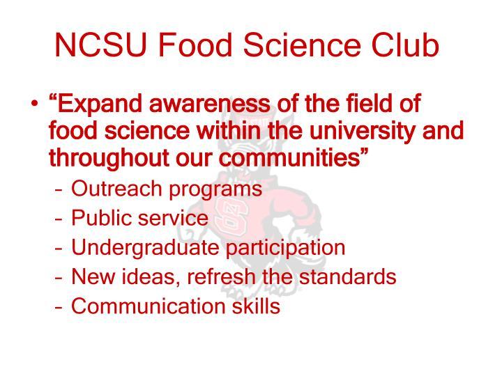 NCSU Food Science Club