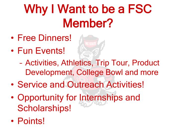 Why I Want to be a FSC Member?
