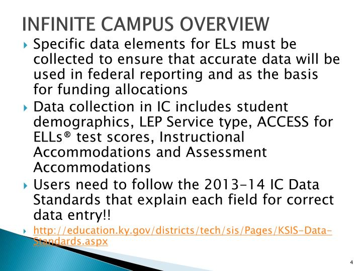 Infinite Campus Overview