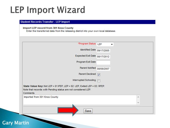 LEP Import Wizard