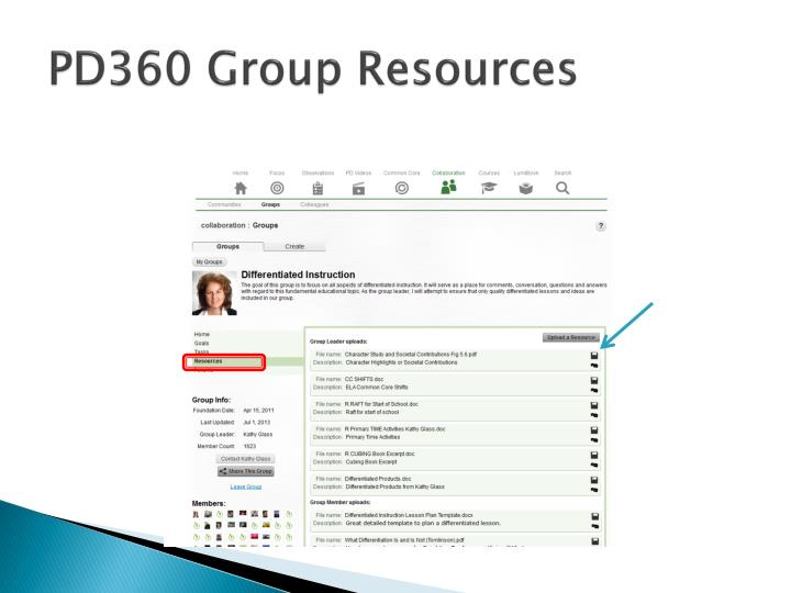PD360 Group Resources