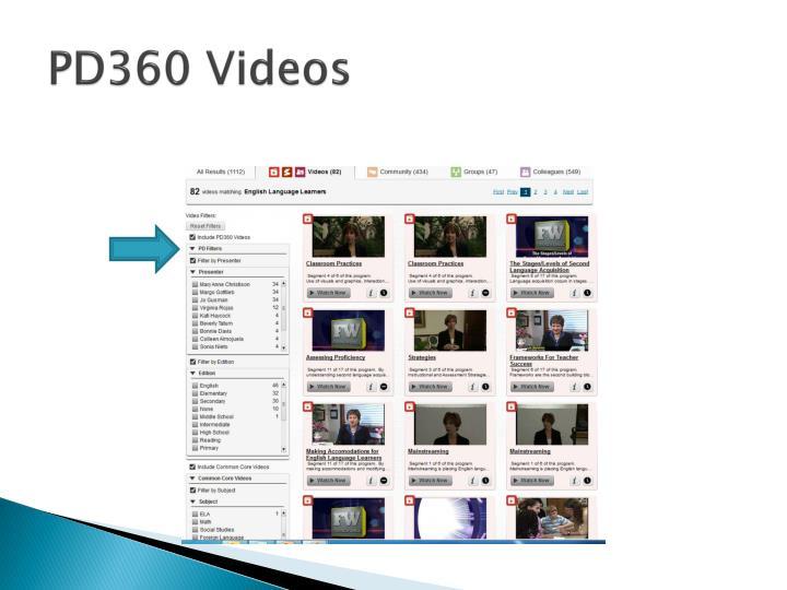 PD360 Videos