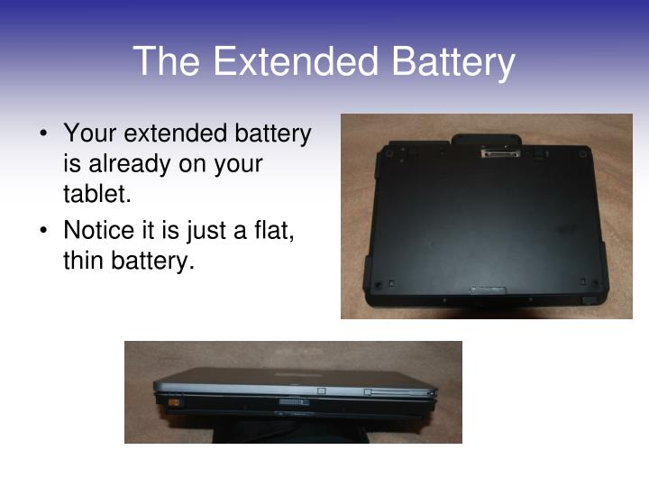 The extended battery