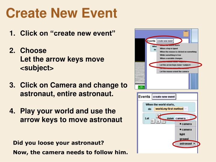 Create New Event