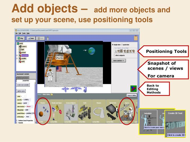 Add objects –