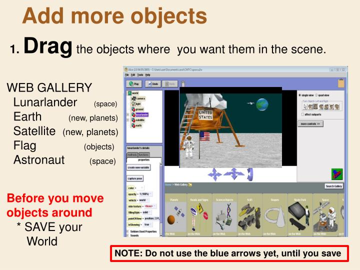 Add more objects