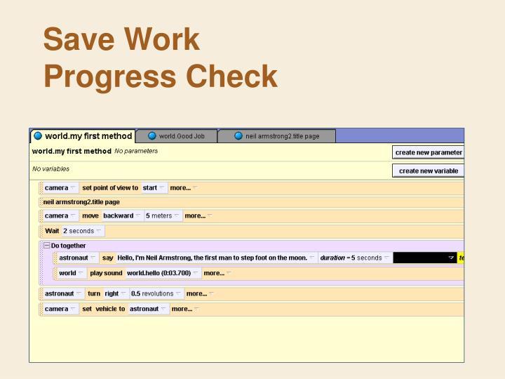 Save Work