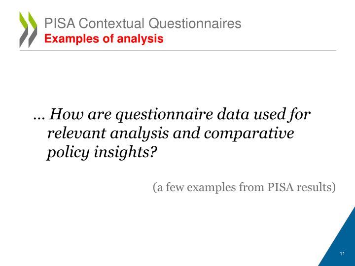 PISA Contextual Questionnaires