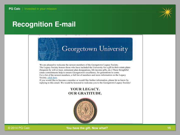 Recognition E-mail