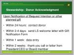 stewardship donor acknowledgment