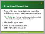stewardship other activities