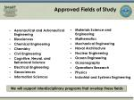 approved fields of study